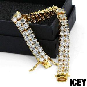 18K Gold Plated 2 Row Tennis Bracelet